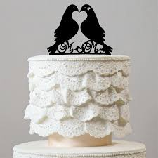 dove cake topper beautiful mr mrs wedding cake topper message bird dove