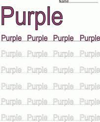 printable purple word color coloring worksheet coloring worksheets