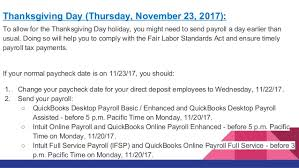 Friday After Thanksgiving Federal How Will Veterans Day And Other Federal Holidays Affect My Payroll Pr