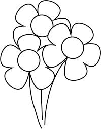 flores az dibujos colorear