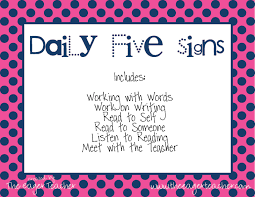 the daily five printables daily 5 freebie posters the eager