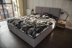 Fox Fur Blanket Amazon Com Luxury Fox Real Fur Throw King Size Furry Rug