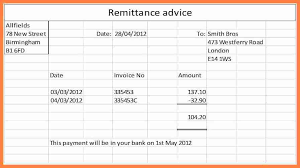 remittance advice template free sample remittance