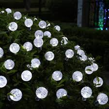 Solar Powered Icicle Lights by Icicle Solar Christmas String Lights 20ft 30 Led Fairy Globe