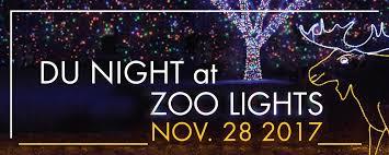 university of denver alumni du night at the zoo lights