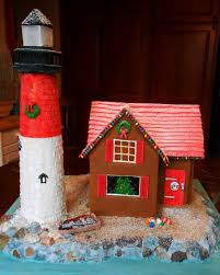 baking outside the box gingerbread lighthouse