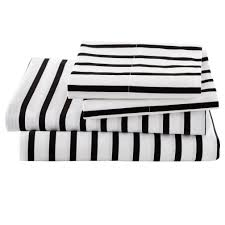 Queen Sheets Black And White Stripe Sheets Queen The Land Of Nod