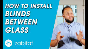 how to replace door glass with blinds between glass enclosed