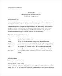 Electrical Engineer Resume Example by 9 Engineering Resumes Free Sample Example Format Free