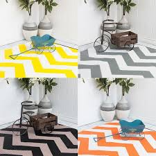 Zig Zag Outdoor Rug Orange Yellow Fade Zig Zag Area Rug Eastern Rugs Reversible