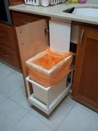Kitchen Island With Garbage Bin I Made This Automatic Kitchen Trash Can That Opens With The