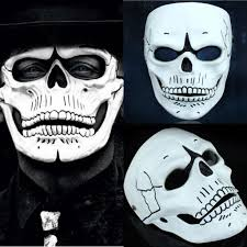 2016 spectre masks white skull masquerade masks party carnival