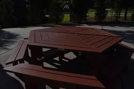 Plans To Build A Hexagon Picnic Table by Hexagonal Picnic Table 10 Steps With Pictures