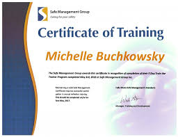 certificate reprint safe management group