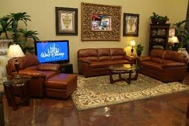Paint On Leather Sofa Wall With Mirror Also Pictures Combined With Brown Leather