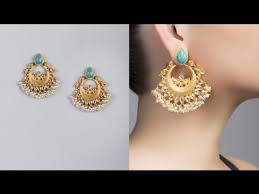 design of gold earrings ear tops top 10 earings design 2017 best earing designs for bridal