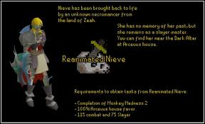 Osrs House Styles Reanimated Nieve The Slayer Master Of Zeah 2007scape