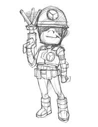 monkey wars game character sketches