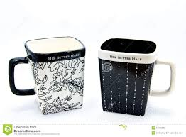 his hers mugs his and better half mugs stock photography image 21282802