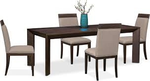 gavin table and 4 side chairs brownstone value city furniture