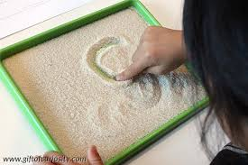 writing letters in a salt tray 101 ways to teach the alphabet
