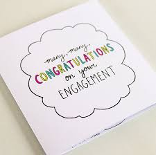 congrats engagement card congrats on your engagement square journey card by