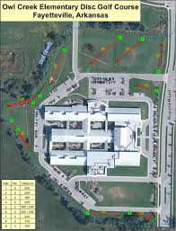 Fayetteville Ar Map Owl Creek Elementary Professional Disc Golf Association