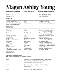Resume For Theater Resume For Theater Won Disaster Gq