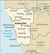 map of cities list of cities and towns in namibia