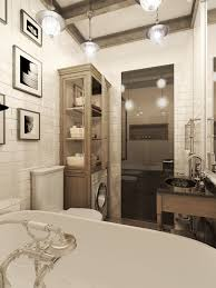 dark color for small apartment interior design with exposed brick