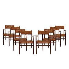 italian chairs by jens risom 1950s set of 8 for sale at pamono