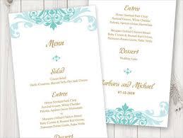 Diy Wedding Menu Cards 43 Wedding Menu Samples Free U0026 Premium Templates