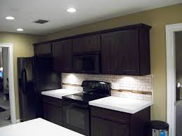 Ceramic Tile For Backsplash In Kitchen by Furniture Nice Espresso Kitchen Cabinets With White Quartz