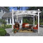 White Vinyl Pergola by Avalon Louvered White Vinyl Pergola New England Arbros Va42062