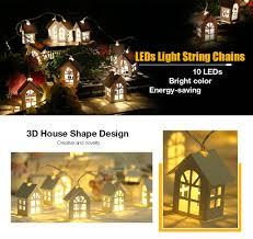 house shaped led string lights for decor 1 65m 10leds 6 online