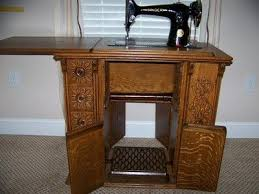 Singer Sewing Machine With Cabinet by Exc Singer Parlor Sewing Machine Oak Wood Treadle Cabinet