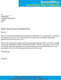 payment letter format request letter for release of outstanding payment