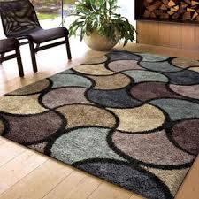 Blue Brown Area Rugs Carolina Weavers Shag Collection Reality Multi Shag
