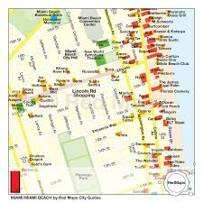 Flamingo Map Miami South Beach City Guide By Red Maps