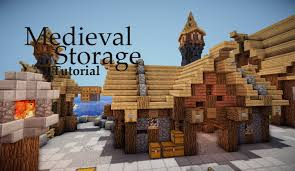 minecraft medieval storage tutorial youtube