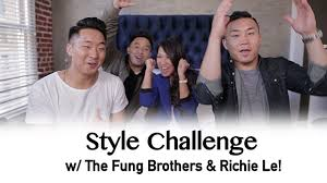 fungbros haircut style challenge with the fung brothers richie le youtube