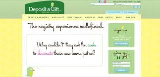 search wedding registries ask for what you really want with deposit a gift