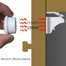 10 pcs magnetic cabinet locks safety baby set 10 locks 2 keys