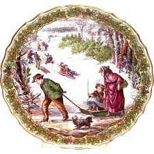 spode china the series sleighing plate no
