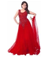 color designer buy red color designer net gown