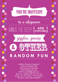 sleepover invitations announce it by alicia f http