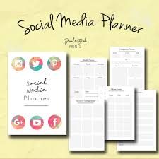 social media planner business organizer business kit weekly