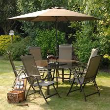 6 Seater Patio Furniture Set - suntime havana grey round 6 seater reclining set u2013 the uk u0027s no 1
