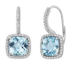 blue drop earrings blue topaz drop earrings w simulated diamonds bijoux treasures