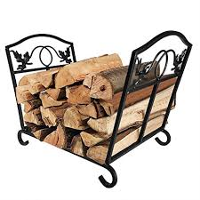 Outdoor Fireplace Accessories - amazon com fireplace log holder wrought iron fire wood stove
